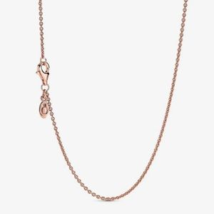 Pandora Rose Gold Classic Cable Chain Necklace